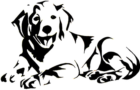 Golden Retrievel Vector