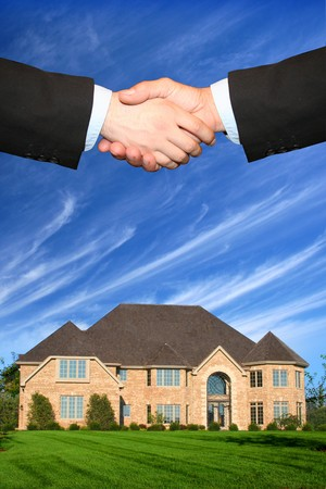 real estate: House sold Stock Photo