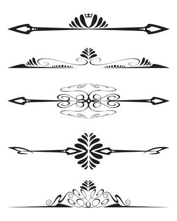 western pattern: Decorative element Illustration
