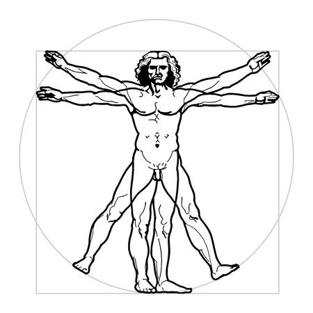existence: Leonardos Vitruvian Man