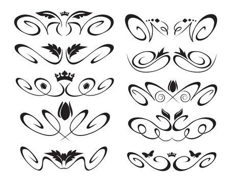 crown silhouette: Elementi decorativi