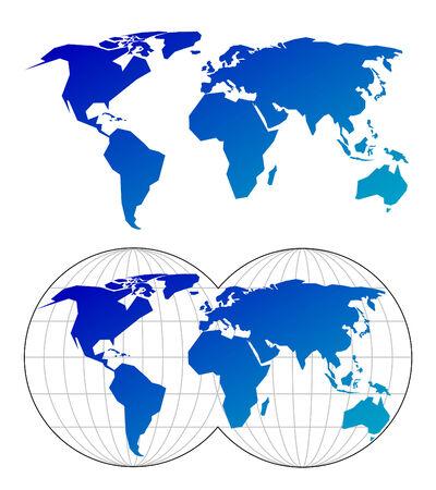 north america map: Mappe del mondo Vettoriali