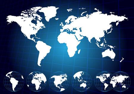oceans: World maps