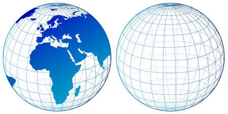 oceans: World map