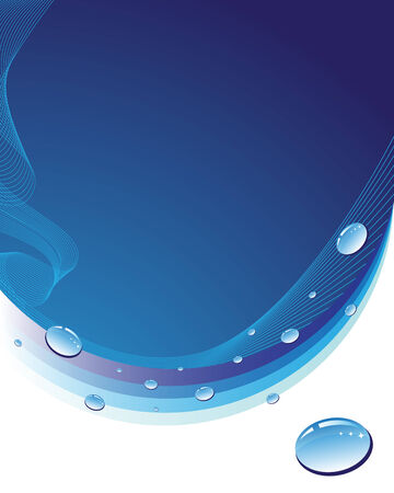 Blue abstract background with woter drops