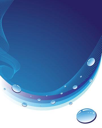 Gotas de fondo abstracto azul con woter  Foto de archivo - 5755777