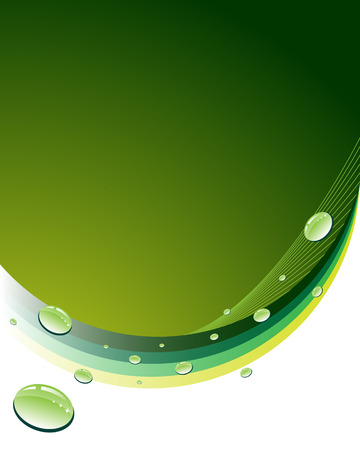 condensation: Green abstract background with woter drops