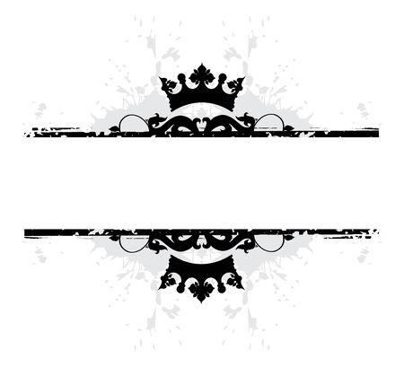 レトロ: 花のバナー  イラスト・ベクター素材