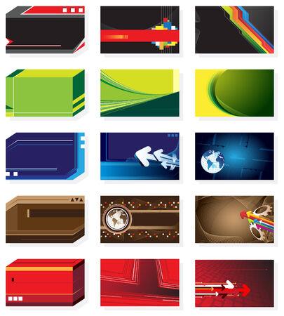 Set of business cards Ilustração