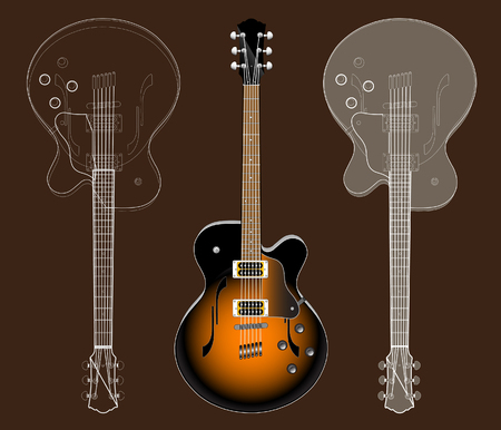 Electric guitar Ilustração