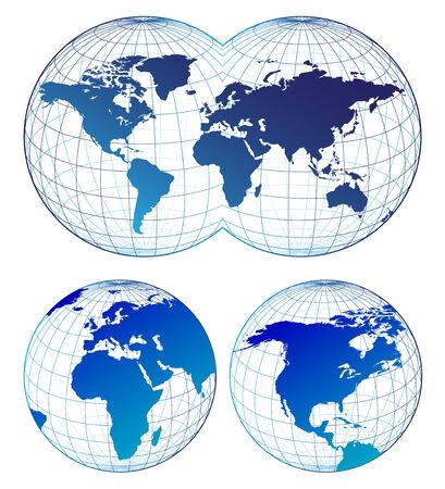 Map of the world Ilustração