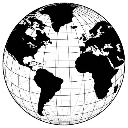 world of work: Map of the world Illustration