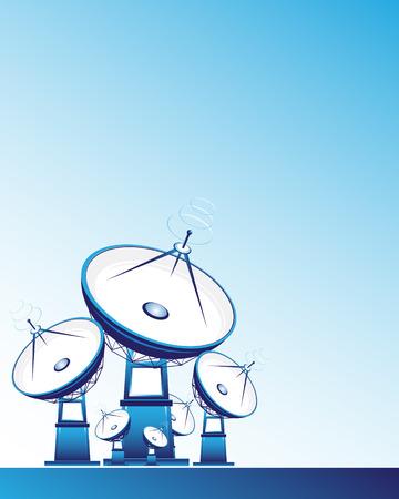 pietanza: Antenne paraboliche  Vettoriali