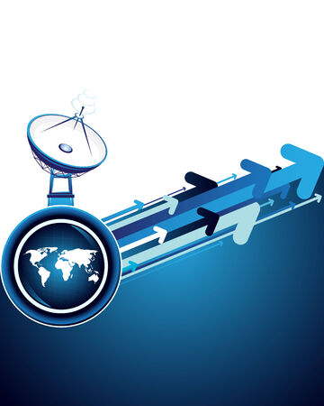 internet traffic: Satellite dish Illustration