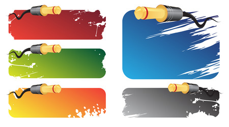 Music banners Vector