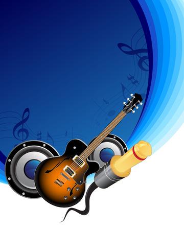 acustica: Sfondo di musica  Vettoriali