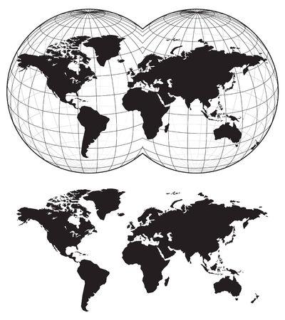 terra: Map of the world Illustration