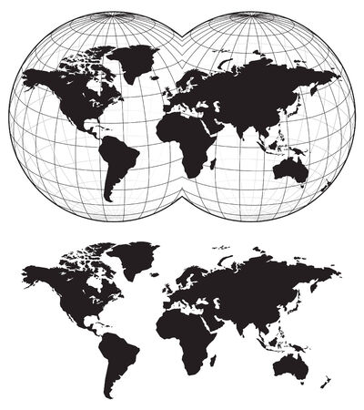 Map of the world Vettoriali