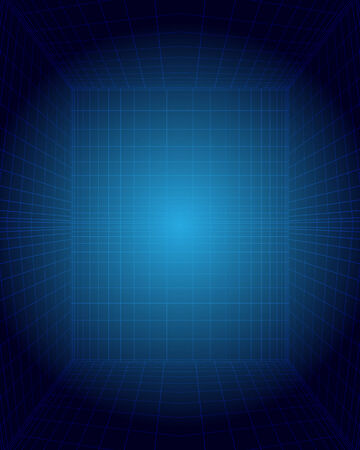 blue circles: Blue abstract background with place for text