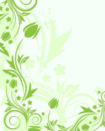 vine art: Floral background