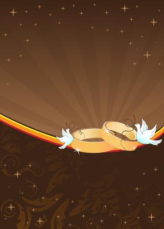 kahverengi: İki altın yüzük