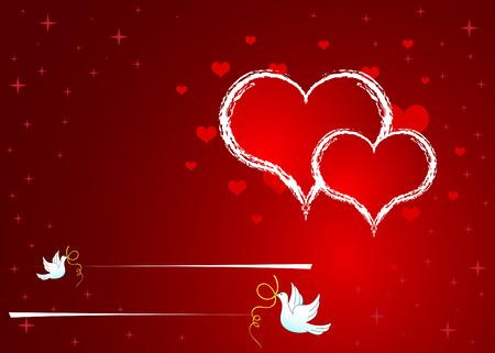 hart: Invitation background Illustration