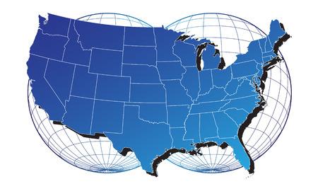 USA map Stock Vector - 5776354