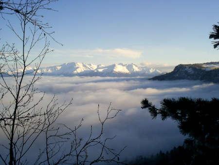 alpine zone: reserved zone; mountains; glacier; snow; top