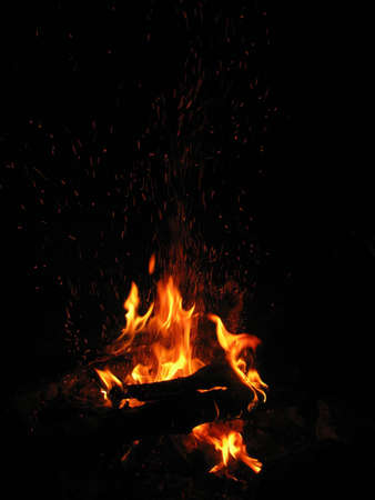 fervour: Campfire; fire; sparks; centre; flame; night; heat; fervour; firewood; fire; background; languages of the flame; element