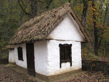 Hut; house; a mud hut; a museum