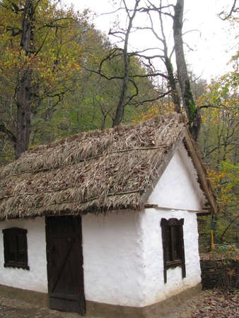 mud house: Hut; house; a mud hut; a museum; an aul Stock Photo