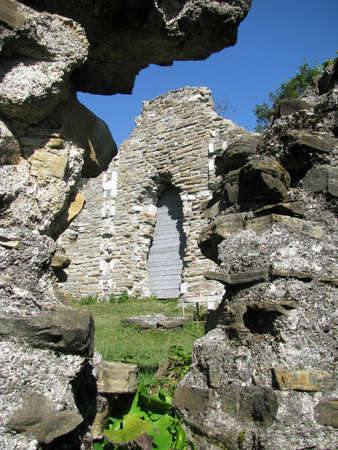 The ruins of an ancient Byzantine church. Russia. Loo photo