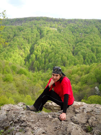 purposefulness: A young girl in the Caucasus Mountains