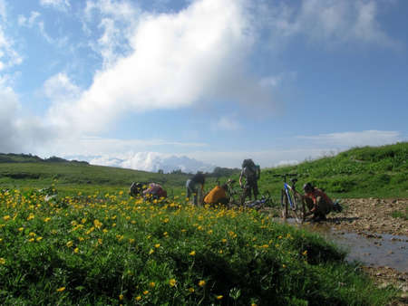 Bike trip to the mountains of the Caucasus photo