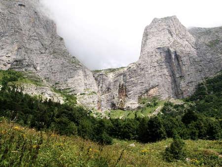 Beautiful mountain scenery of the Caucasus photo