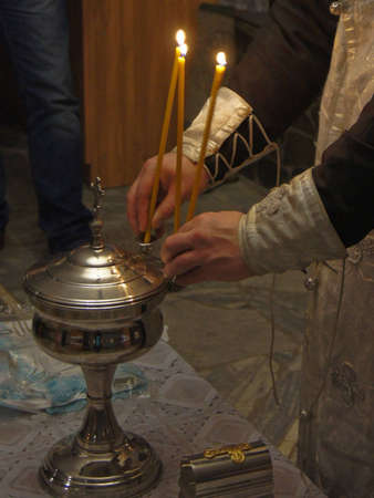 the sacrament of baptism in the Orthodox Church photo