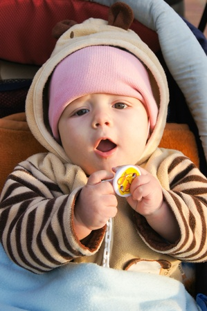 Funny little baby Stock Photo - 17353368