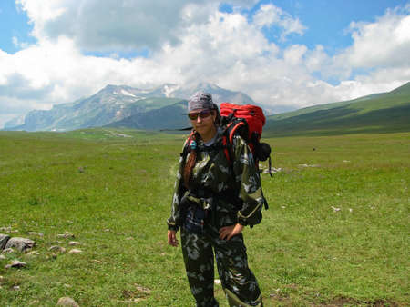 Active recreation and tourism in the mountains of the Caucasus photo