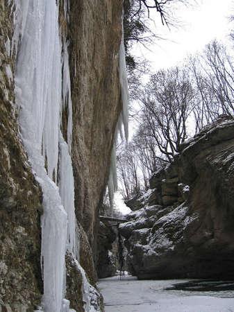 Frozen waterfalls of the Caucasus Mountains Stock Photo - 12794465