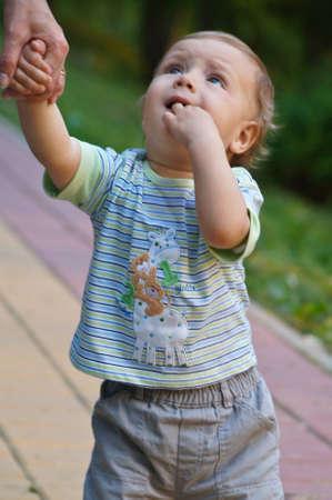 A funny little boy