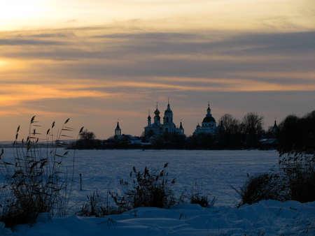 peregrinación: La peregrinaci�n a los templos de Rusia Foto de archivo