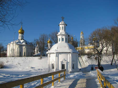 Pilgrimage to the temples Russia Stock Photo