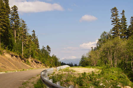 Road to mountains of the Caucasian reserve photo