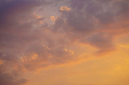 Beautiful scarlet clouds on a decline photo