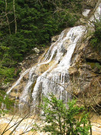 Falls in mountains of caucasus photo