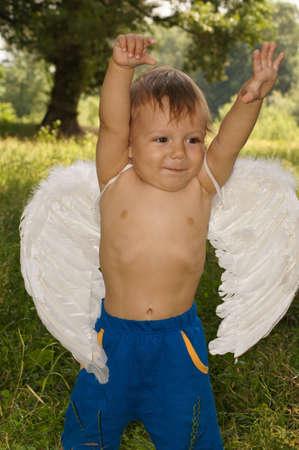 The amusing little boy photo