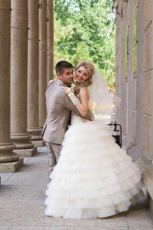 Joven pareja se cas? en el d?a de la boda