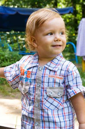 The amusing little boy on walk Stock Photo - 16314126