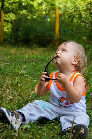 The amusing little boy on walk Stock Photo - 16314117