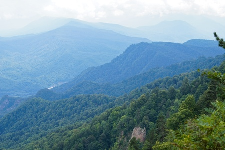 Mountains of the Caucasian natural reserve photo